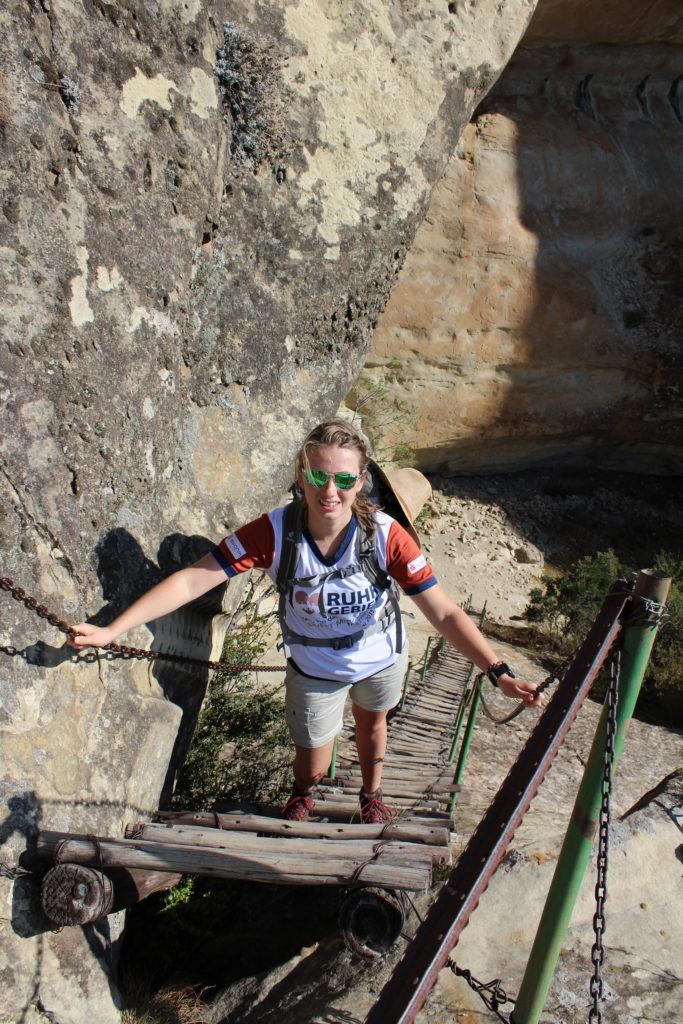 Der Holkrans Trail führt auch über Leitern in die Holkrans Cave