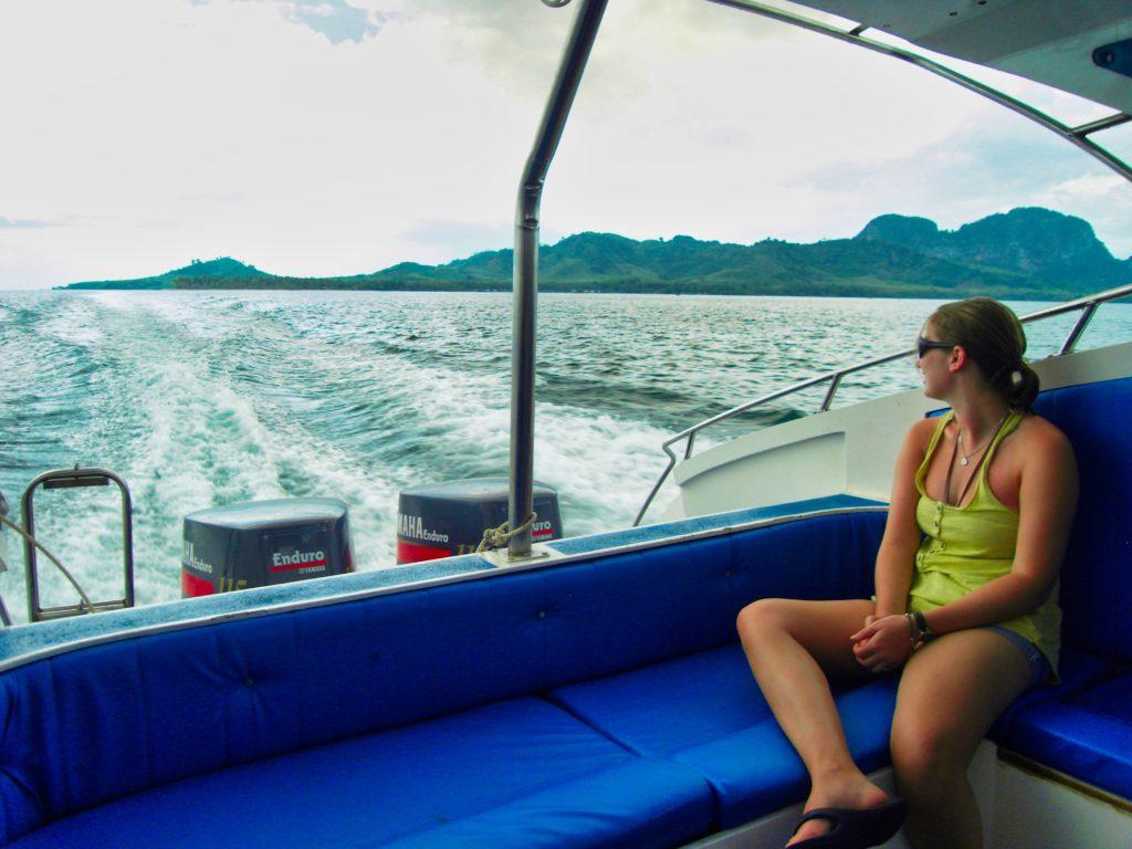 Speedboot für die An- und ABreise