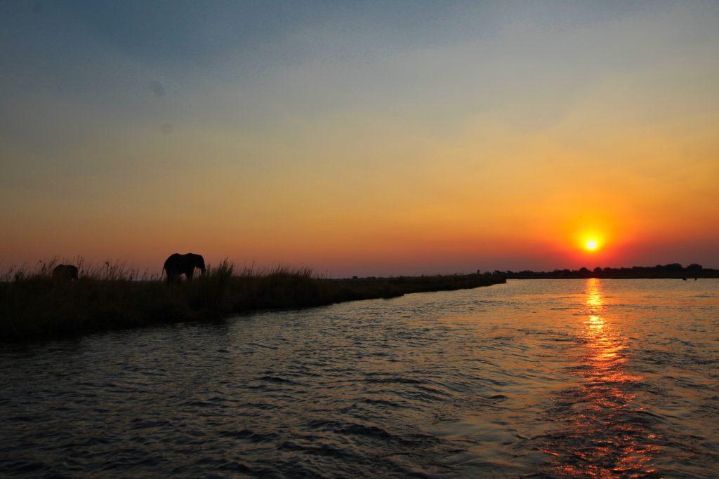 Sonnenuntergang Chobe River